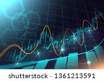 stock market or forex trading... | Shutterstock . vector #1361213591