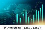 stock market or forex trading...   Shutterstock . vector #1361213594