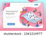 isometric flat vector landing... | Shutterstock .eps vector #1361214977