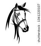 horse head with bridle   black... | Shutterstock .eps vector #1361220107