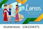 international exchange program... | Shutterstock .eps vector #1361236571