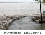 flooded asphalt recreational...   Shutterstock . vector #1361258441