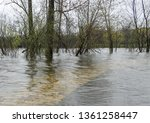 flooded stone pedestrian...   Shutterstock . vector #1361258447