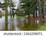 floodwater encroaching in...   Shutterstock . vector #1361258471