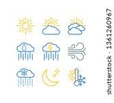 weather forecast line color...   Shutterstock .eps vector #1361260967