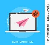 vector illustration of email... | Shutterstock .eps vector #1361269067