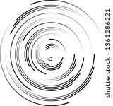 radial speed lines in circle... | Shutterstock .eps vector #1361286221
