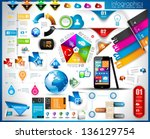 infographic elements   set of... | Shutterstock . vector #136129754
