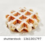 single belgian sugar waffle...   Shutterstock . vector #1361301797