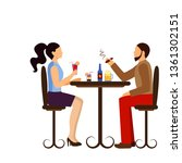 people drinking in bar icon | Shutterstock .eps vector #1361302151