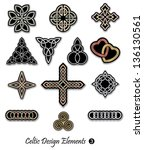 celtic ornaments and... | Shutterstock .eps vector #136130561