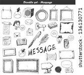 doodle vector set   | Shutterstock .eps vector #136130771