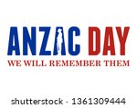 anzac day banner with... | Shutterstock .eps vector #1361309444