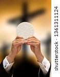 holy communion on the... | Shutterstock . vector #1361311124