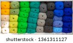 colorful yarns for sewing on... | Shutterstock . vector #1361311127