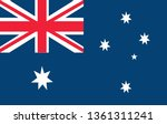 australian flag vector icon... | Shutterstock .eps vector #1361311241