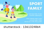 sport family motivational text... | Shutterstock .eps vector #1361324864