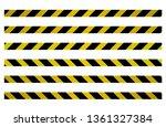 set of belts for metal barriers ... | Shutterstock .eps vector #1361327384