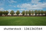 view of a green playing field... | Shutterstock . vector #1361363564