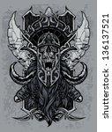 Постер, плакат: Elder Visigoth Viking Skull