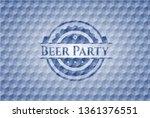 beer party blue emblem or badge ... | Shutterstock .eps vector #1361376551