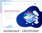 isometric chat bot and online... | Shutterstock .eps vector #1361392604