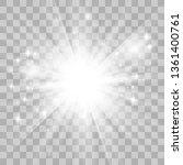 glow light effect. star burst...   Shutterstock .eps vector #1361400761