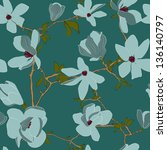 seamless vector pattern with... | Shutterstock .eps vector #136140797