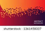 gradient abstract space high... | Shutterstock .eps vector #1361458337