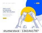 millennial lifestyle in...   Shutterstock .eps vector #1361461787