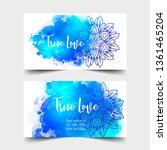 yoga card design. colorful... | Shutterstock .eps vector #1361465204
