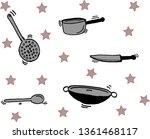 kitchen utensils that are... | Shutterstock .eps vector #1361468117