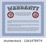 blue formal warranty...   Shutterstock .eps vector #1361478974