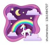 fantasy animal horse unicorn... | Shutterstock .eps vector #1361484707