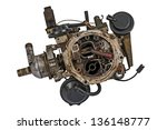 worn out carburetor from the... | Shutterstock . vector #136148777