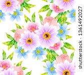 flower print. elegance seamless ... | Shutterstock . vector #1361492027