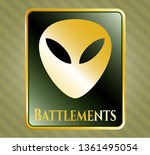 gold emblem or badge with... | Shutterstock .eps vector #1361495054