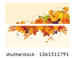 thanksgiving background with... | Shutterstock .eps vector #1361511791