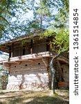 vintage wooden barn in the...   Shutterstock . vector #1361514854