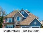the top of the house or... | Shutterstock . vector #1361528084