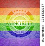 minority emblem on mosaic...   Shutterstock .eps vector #1361533157
