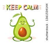 cartoon cute avocado character... | Shutterstock .eps vector #1361534144