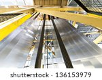 sheets of aluminum rolled... | Shutterstock . vector #136153979