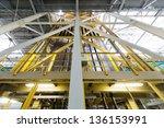 sheets of aluminum extend on... | Shutterstock . vector #136153991