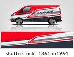van wrap design. wrap  sticker... | Shutterstock .eps vector #1361551964