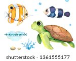 Underwater Inhabitants. Hand...