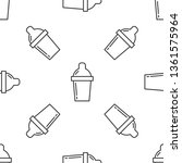 black and white seamless... | Shutterstock .eps vector #1361575964