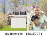 african american family in... | Shutterstock . vector #136157771