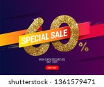 shine golden sale 60  off with... | Shutterstock .eps vector #1361579471