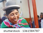 Happy Native American Old Woman ...